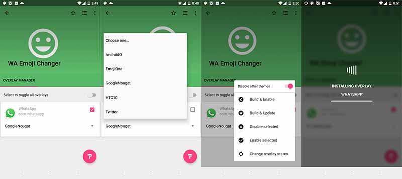 Install Blob Emojis in WhatsApp using WA Emoji Changer