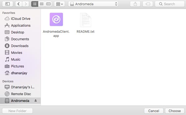 Install Custom Themes on Android Oreo Andromeda macOS Select Image