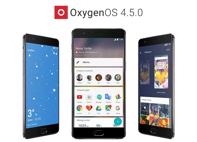 Install OxygenOS 4.5.0 Update on OnePlus 3 and 3T