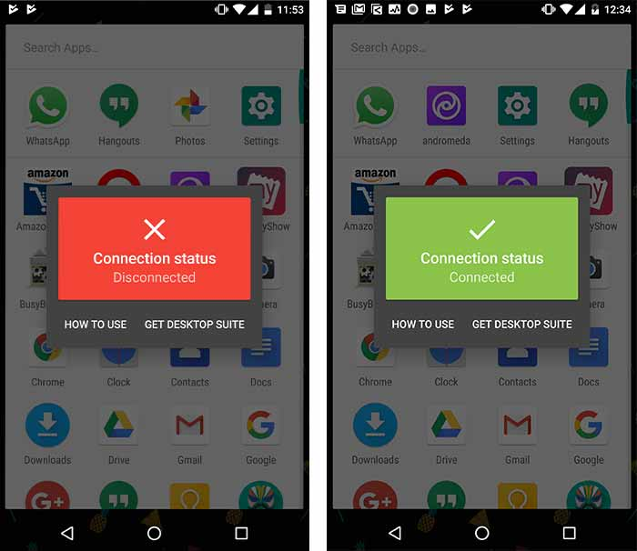 Install Custom Themes on Android Oreo without root Andromeda Status