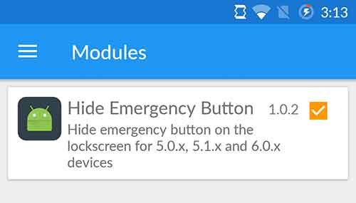 Enable Xposed Module to Remove Emergency Call Button from Lock Screen