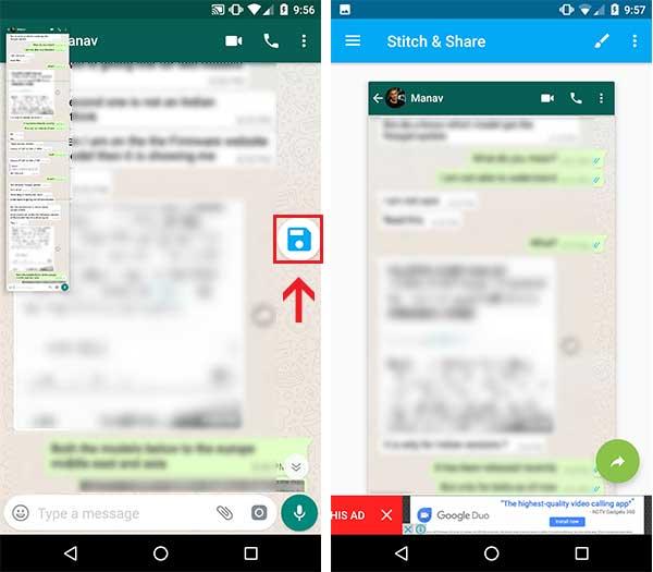 Take Scrolling Screenshots on Android - Share captured screenshot via Snitch & Share