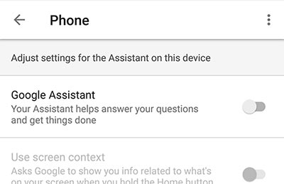 Disable Google Assistant on Android - Turn off Google Assistant Toggle