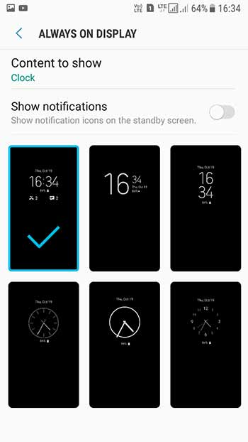 Enable Always On Display on Samsung Nougat - Screenshot 3