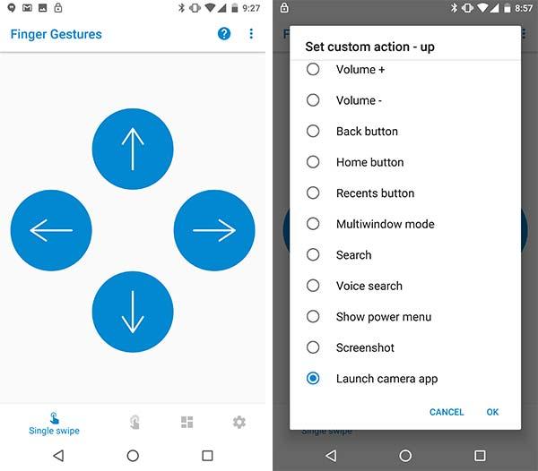 Fingerprint Gestures on Android Oreo - Single Swipe Setup