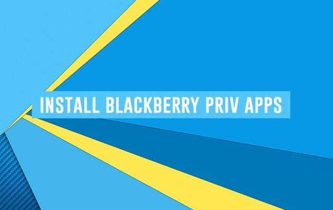 Install BlackBerry Priv Apps on Any Android