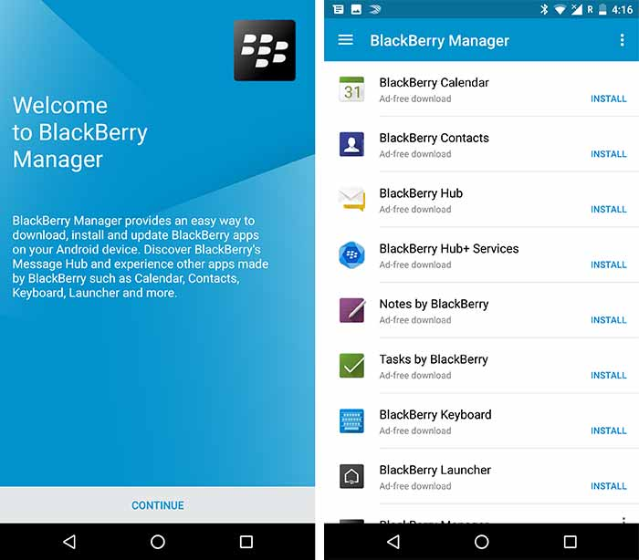 Install BlackBerry Priv Apps - BlackBerry Manager
