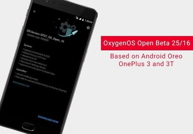 Install OxygenOS Open Beta 25/16 on OnePlus 3 and 3T