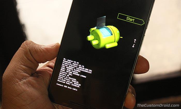 Unlock Bootloader on Google Pixel 2 and Pixel 2 XL - Bootloader Mode