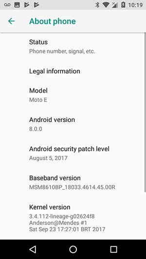 Update Android Oreo on Moto E using LineageOS 15 ROM - Screenshot 3