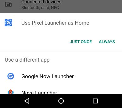 Use Pixel Launcher as Home Always