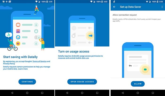 Download Datally App by Google - Grant Permissions