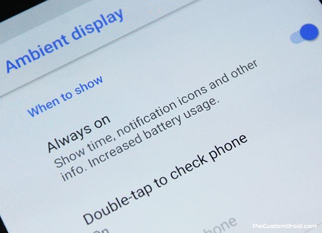 Enable Pixel 2 Always On Display on Nexus 6P, Pixel, and Pixel XL