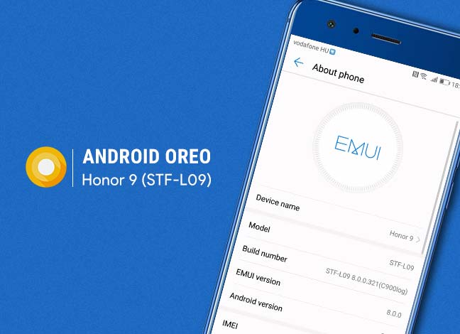 Install EMUI 8-based Android Oreo on Honor 9 (STF-L09B321)
