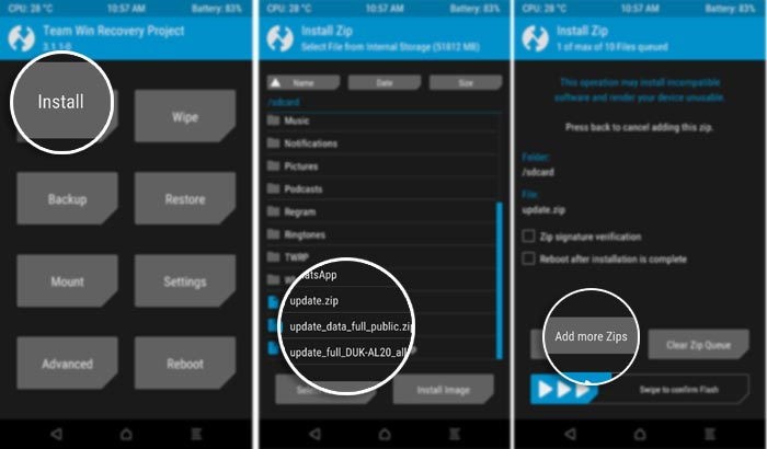 Install Android Oreo on Honor V9 - Flashing EMUI 8.0.0.315 using TWRP