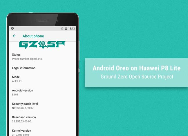 Install Android Oreo on Huawei P8 Lite using GZOSP ROM