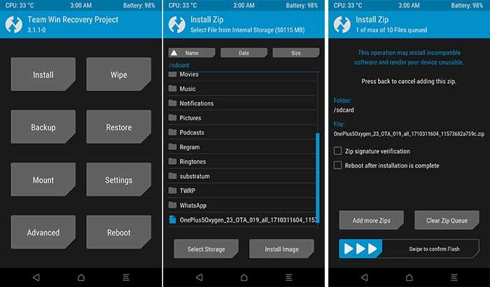 Install OxygenOS 4.5.14 Update - TWRP Installation