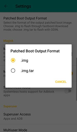 Root Google Pixel 2 and Pixel 2 XL - Change Patched Boot Image format