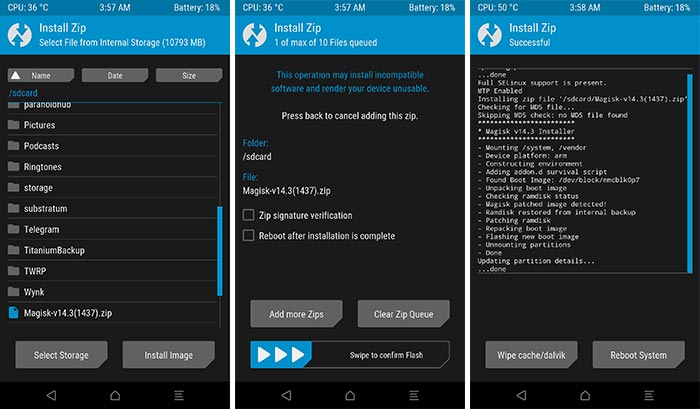 Flashing Magisk in TWRP to Root Xiaomi Mi A1