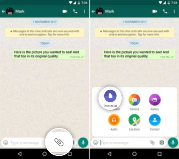 How to Send Uncompressed Images on WhatsApp - Attach as Document