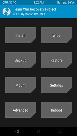 TWRP Recovery on Xiaomi Mi A1