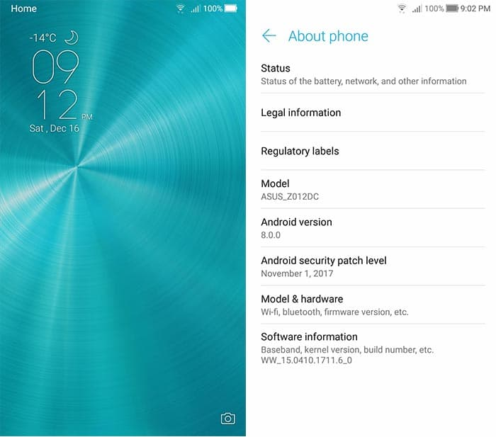 Android Oreo Beta on Asus Zenfone 3 ZE552KL - Screenshots