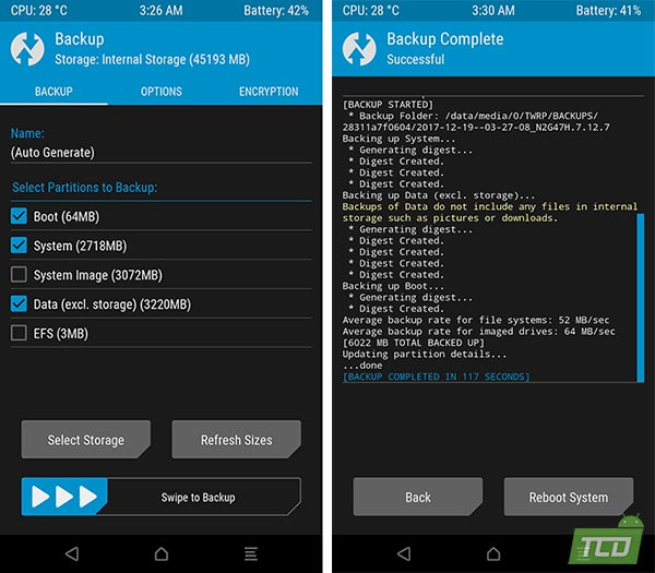 Install Android 8.0 Oreo Beta on Xiaomi Mi A1 - Nandroid Backup