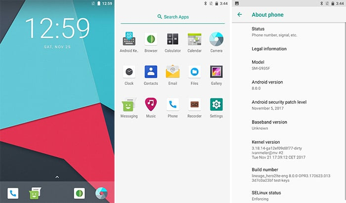 Install LineageOS 15.1 on Galaxy S7 and S7 Edge - Screenshots