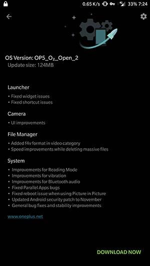 Install OxygenOS Open Beta 2 on OnePlus 5 - OTA notification