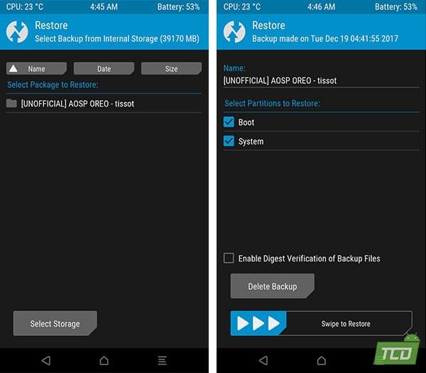 Restore Nandroid Backup to Install Android 8.0 Oreo Beta on Xiaomi Mi A1
