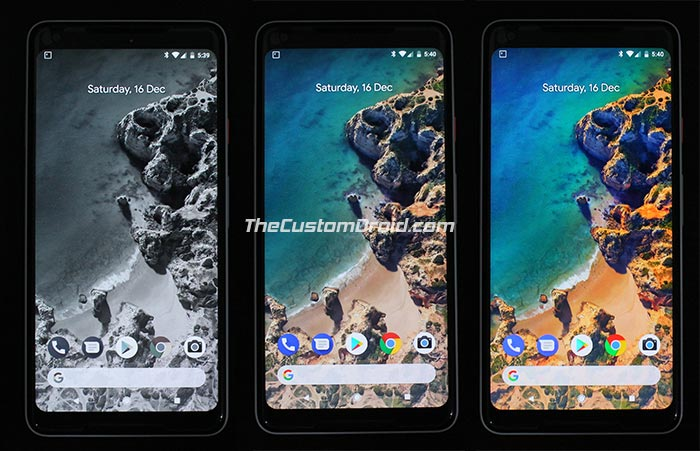 Set Custom Saturation Level on Google Pixel 2 and Pixel 2 XL - Screenshots