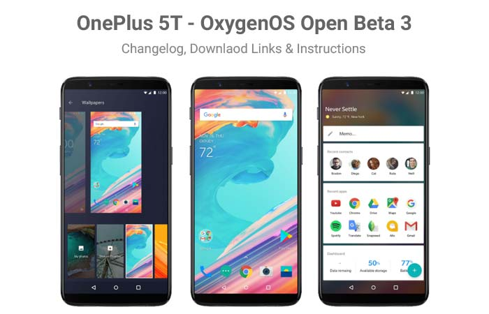 Install OnePlus 5T OxygenOS Open Beta 3 Update