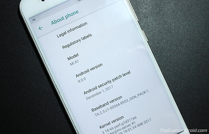 Install Xiaomi Mi A1 Android Oreo OTA
