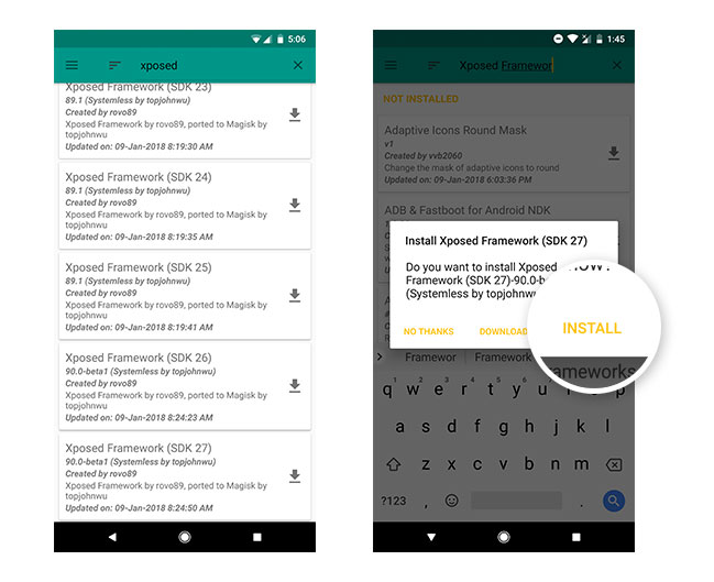 Install Xposed Framework on Android Oreo using Magisk - Install Module