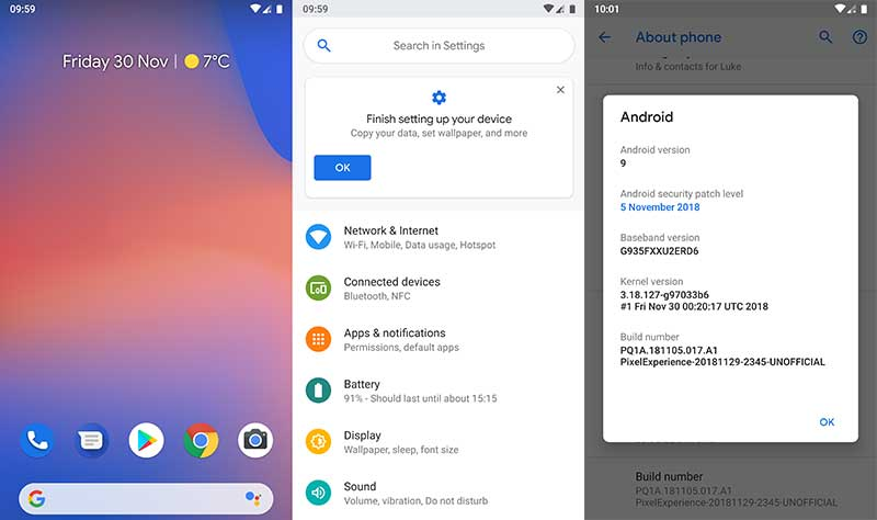 Best Custom ROMs for Galaxy S7 and S7 Edge - Pixel Experince ROM