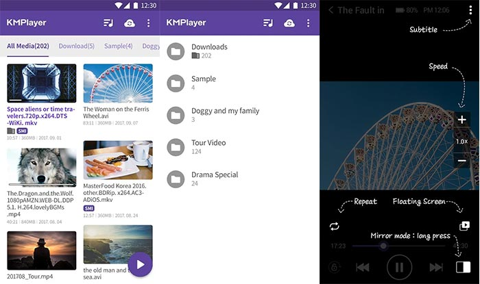 Best MX Player Alternatives for Android Phones - KMPlayer