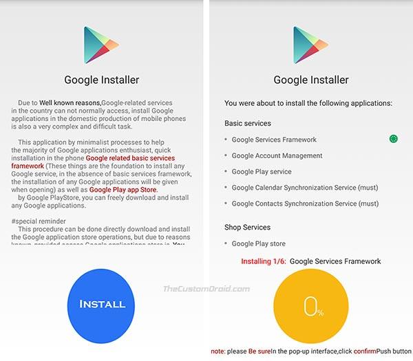 Download Google Installer v2 and Install Google Apps