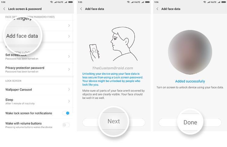 Face Unlock on Redmi Note 4, Redmi 4/4X, and Mi Max Prime