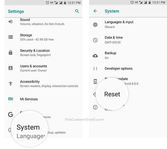 Hard Reset Xiaomi Mi A1 in Settings - 1