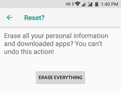 Hard Reset Xiaomi Mi A1 in Settings - 3