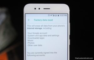 Hard Reset Xiaomi Mi A1 using Stock Recovery and Settings
