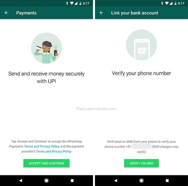 How to Use WhatsApp Payments Feature - Verify Phone Number