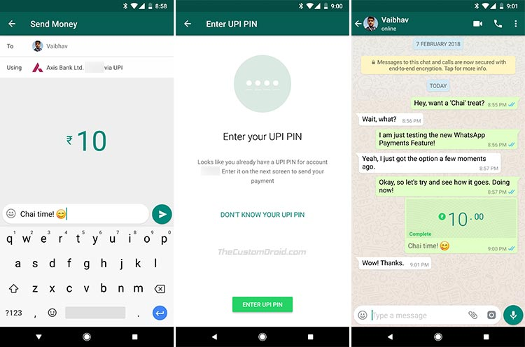 How to Use WhatsApp Payments Feature to Send Money