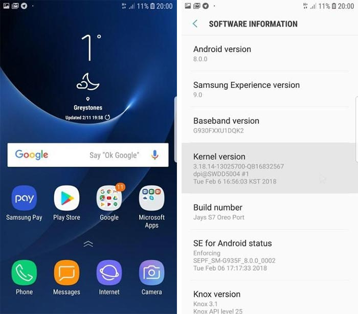 Install Android Oreo on Galaxy S7 Edge - Screenshots