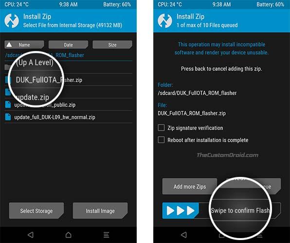 Install Honor 8 Pro Android Oreo Update - DUK_FullOTA_ROM_Flasher