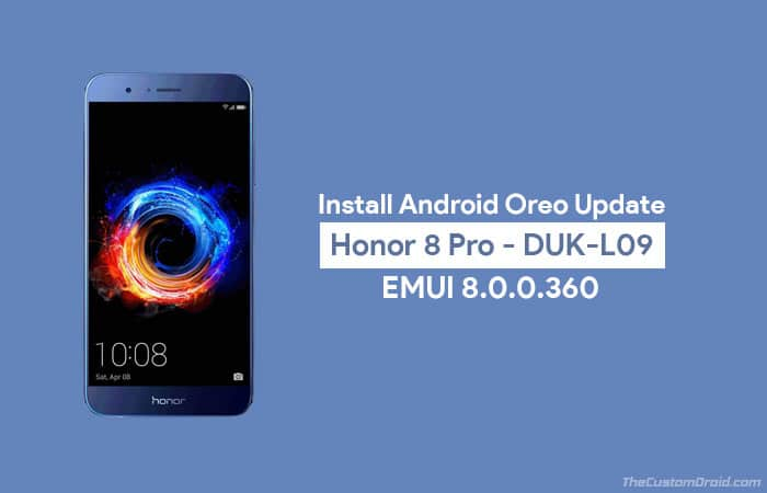 Install Honor 8 Pro Android Oreo Update