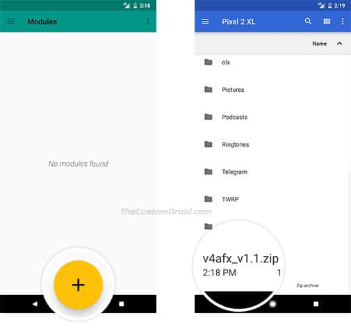 Install ViPER4Android on Google Pixel 2 - Open ViPER4AndroidFX Module
