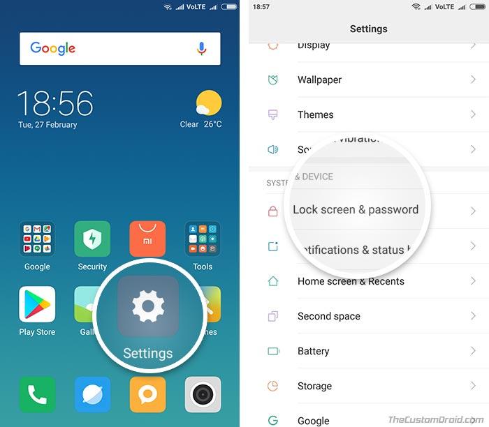 Use Face Unlock on Redmi Note 4 - Screenshot 1