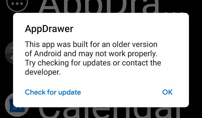 Android P May Not Support Older Android Apps