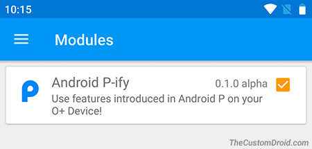 Android P-ify Xposed Module Activated
